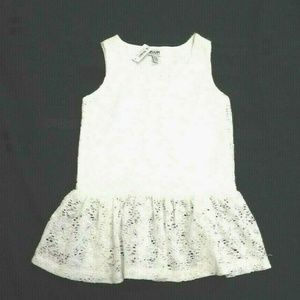 Girls X-Small 5/6 White Lace Dress
